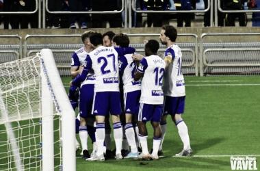 Los blanquillos deberán sobreponerse a las bajas de Cristian Álvarez y Luis Suárez para conseguir la victoria en Almería. Imagen: Andrea Royo