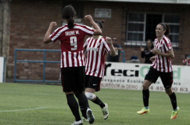 Las jugadoras del Athletic celebran un gol de la actual temporada.   Foto: Athletic.