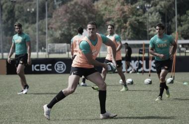 ¡Vuelve, Emiliano! Boffelli, que solo jugó algunos minutos contra Lions en Johannesburgo, estará de regreso en el conjunto argentino. ¿Lo hará zambulléndose al ingoal de los de Waikato y con festejo final incluido? Crédito: Jaguares.