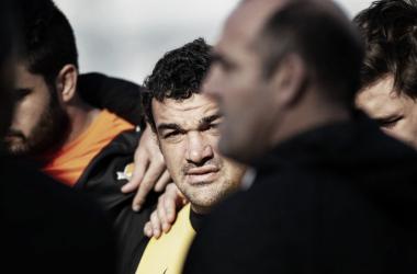 Ronda previa al Captain's Run en Vélez. Mario Ledesma, la voz de mando. Crédito: UAR.