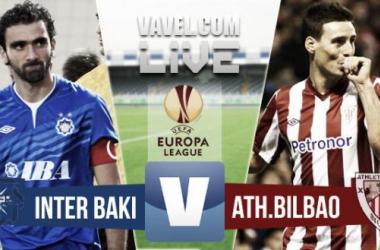 Resultado Inter Bakú - Athletic Club en la UEFA Europa League 2015 (0-0)