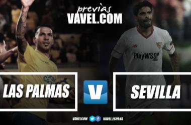 Las Palmas y el Sevilla se verán las caras en la jornada 24 / Fotomontaje: VAVEL.com