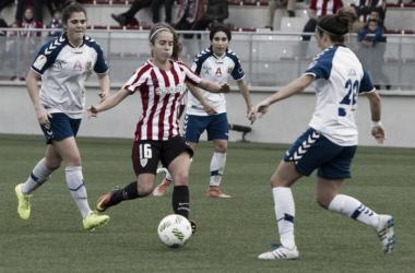 Imagen del partido de la primera vuelta entre Athletic Club y Zaragoza CFF | Fotografía: Athletic Club
