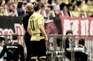 Mario Götze juega sus primeros minutos después de cinco meses de lesión