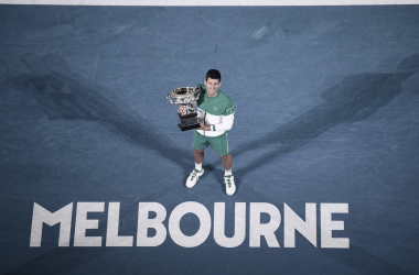 "<p><font size=""4""><b>Novak Djokovic suma 18 títulos de Grand Slam, 9 en Australia. Foto: @AustralianOpen</b></font></p>"