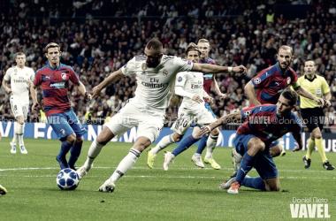 Benzema durante un partido de Champions League | Foto: Daniel Nieto (VAVEL)