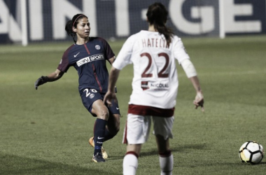 Shirley Cruz added a goal and an assist to PSG's win over Bordeaux | Source: psg.fr