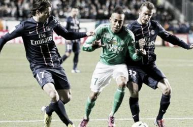 Resultado del Saint Etienne - PSG en la jornada 11 de la Ligue 1 2014 (2-2)