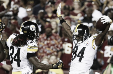 Brown and Williams have big nights for the Steelers against the Redskins | Source: steelers.com