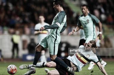 Cristiano Ronaldo e Nani deram o triunfo aos portugueses, frente à Bélgica