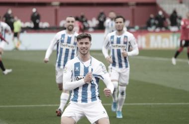 La vida de Javi Puado ha dado un giro de 180º a partir de su cesión invernal al Real Zaragoza | Foto: RCDE