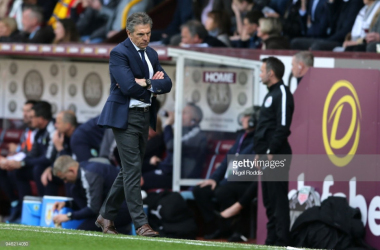 Claude Puel during Leicester's clash with Burnley