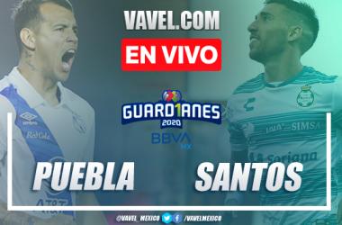 Goles y Resumen del Puebla 0-2 Santos en el torneo Guad1anes 2020