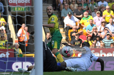 Teemu Pukki equalises for Norwich against Chelsea- Crawley will be hoping he is given a rest on Tuesday night (Getty Images/Daniel Leal-Olivas)