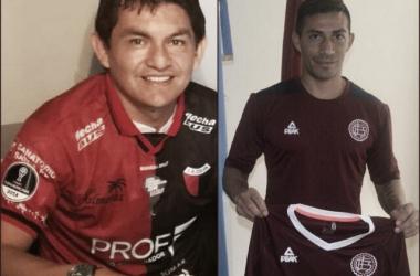 Luis Miguel Rodríguez y Guillermo Acosta fueron presentados hoy en Colón y Lanús, respectivamente. Fuentes: Paginas Oficiales de Colón y Lanús.