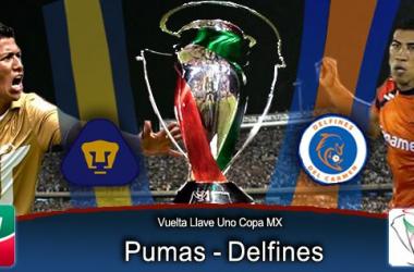 Resultado Pumas - Delfines en Copa MX 2014 (3-0)