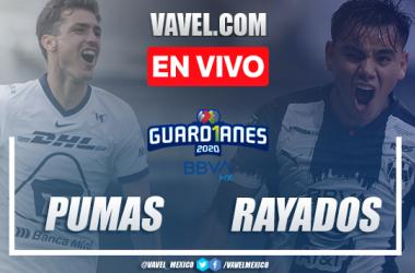Pumas 1-1 Monterrey: goles y resumen Liga MX 2020