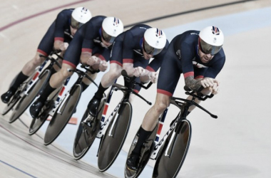The Great Britain Men's Pursuit team in full flow (image via: cyclingweekly.co.uk)