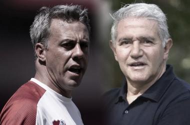 NO SIGUEN. Pusineri(izquierda) y Burrachaga(derecha), se fueron en un lapso de cinco días de Independiente. Foto: Web