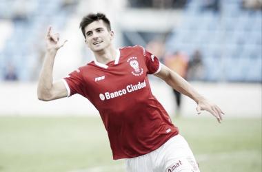 El delantero es el goleador del Globo con 6 tantos. | Foto: Tyc Sports.
