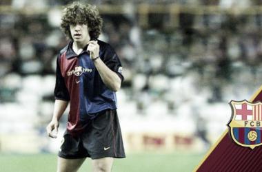 Un joven Puyol, en su debut | Foto: Miguel Ruiz - FC Barcelona