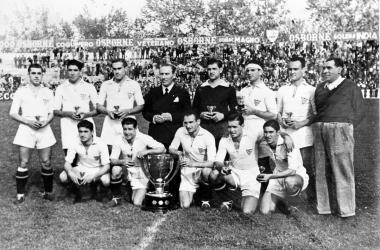 El Sevilla conquistó la liga en la temporada 1945-46. Foto: Sevilla FC.