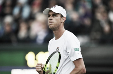 Wimbledon: Sam Querrey shockingly up two sets on Novak Djokovic before rain halts play