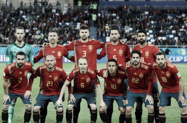 Los selectos para jugar contra Marruecos. | Foto: FIFA