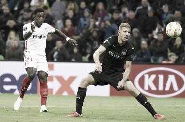 Quincy Promes en el encuentro contra Krasnodar del pasado octubre | Foto: Sevilla FC