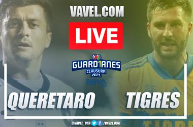 Goals and Highlights on Queretaro 0-1 Tigres match Guard1anes 2021