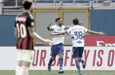 Milan 1 a 1 Sampdoria (Serie A / Divulgação)