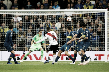 Este Golazo del colombiano valió una Copa Libertadores. Foto: Diario Olé.