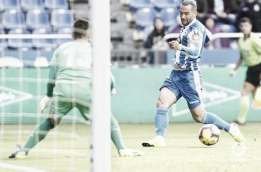 Quique González en el partido frente al Almería. Foto: LaLiga 1|2|3