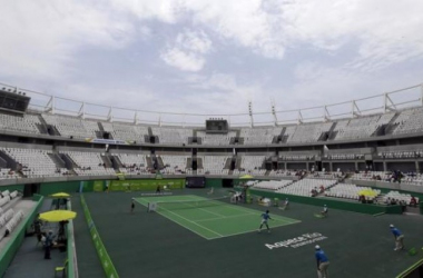 The stadium as it stands today, 90% completed (Credit: Reuters, Ricardo Moraes)