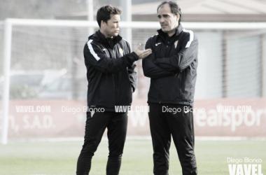 Joan Francesc Ferrer Sicilia, Rubi, durante un entrenamiento. Foto: Diego Blanco - VAVEL