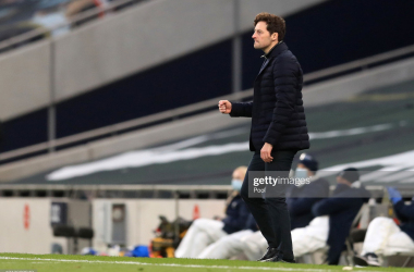 ONDON, ENGLAND - APRIL 21: Ryan Mason, Interim Manager of Tottenham Hotspur celebrates victory after the Premier League match between Tottenham Hotspur and Southampton at Tottenham Hotspur Stadium on April 21, 2021 in London, England. Sporting stadiums around the UK remain under strict restrictions due to the Coronavirus Pandemic as Government social distancing laws prohibit fans inside venues resulting in games being played behind closed doors. (Photo by Adam Davy - Pool/Getty Images)