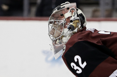 Antti Raanta was instrumental in helping the Coyotes defeat Carolina. | Rick Scuteri/AP Photo