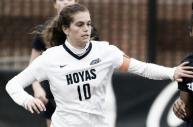 Rachel Corboz playing for Georgetown | Source: Georgetown University - guhoyas.com