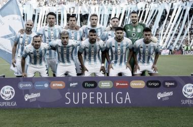 Los once futbolistas que disputaron el último clásico de Avellaneda. (Foto: Racing Club)