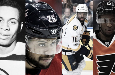 Willie O'Ree, Devante Smith-Pelly, P.K. Subban y Wayne Simmonds | Fotos: NHL.com