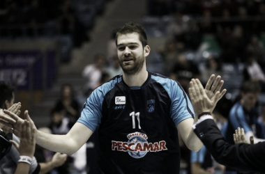 Nemanja Radovic en un partido de esta temporada / Fotografía: Obradoiro
