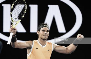Nadal celebra su victoria. Foto: Getty Images.