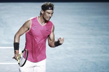Rafael Nadal en el Abierto Mexicano de Tenis 2019 en Acapulco. Fuente: Zimbio
