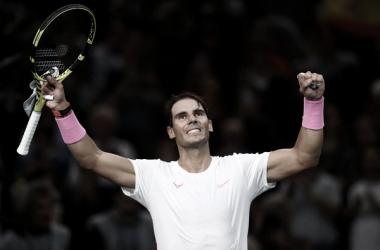 Rafael Nadal en el Masters 1000 París 2019. Fuente: Zimbiio