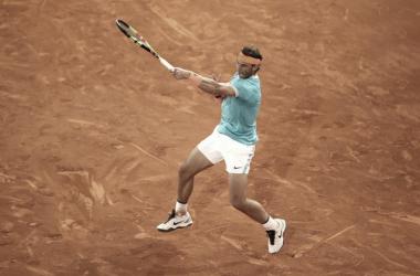 Rafael Nadal en el Mutua Madrid Open. Fuente: Zimbio