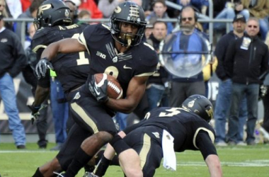 Can Raheem Mostert, the star of the spring, help reignite a stagnant Purdue offense in 2014. (ImageSandra Dukes – USA TODAY Sports)