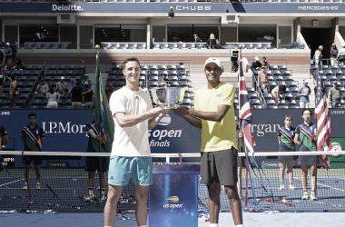 Salisbury e Ram venceram um Slam juntos pela segunda vez (Foto: Divulgação / US Open)