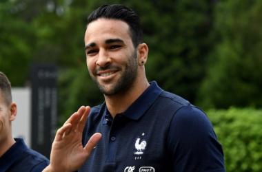 Adil Rami en Equipe de France.