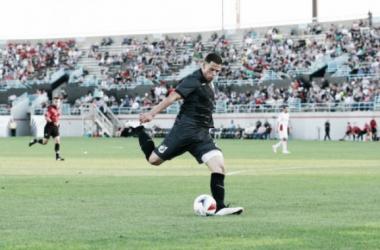 Ramirez kicks the ball during the match. (Minnesota United FC)