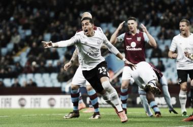 El grito desaforado del mendocino en Inglaterra (Foto: Everton FC Oficial)